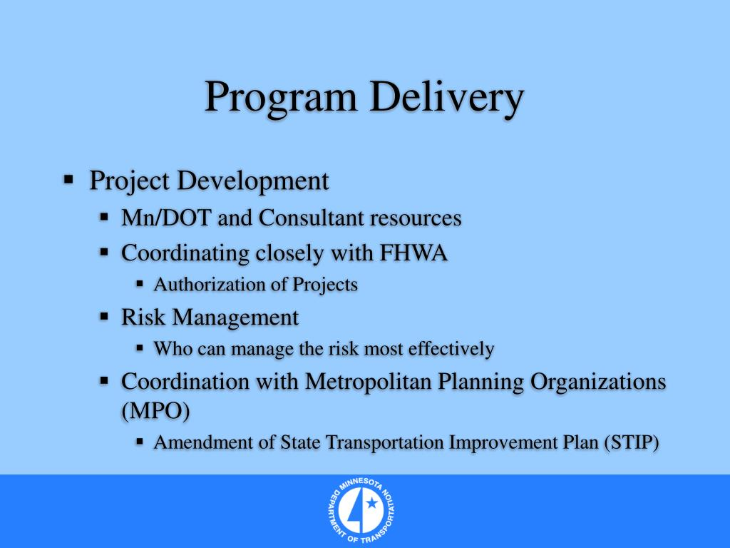 Program Delivery