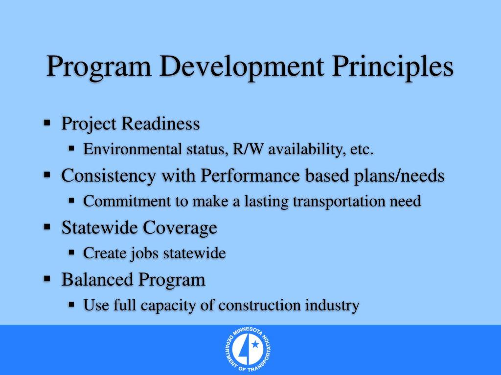 Program Development Principles
