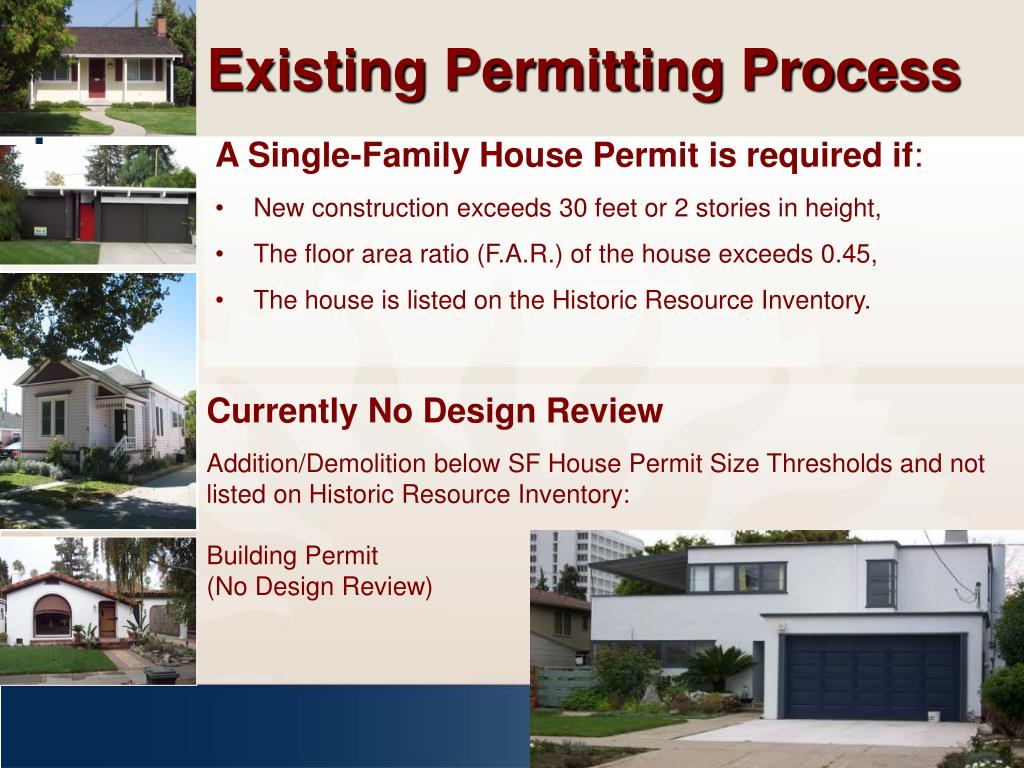 Existing Permitting Process