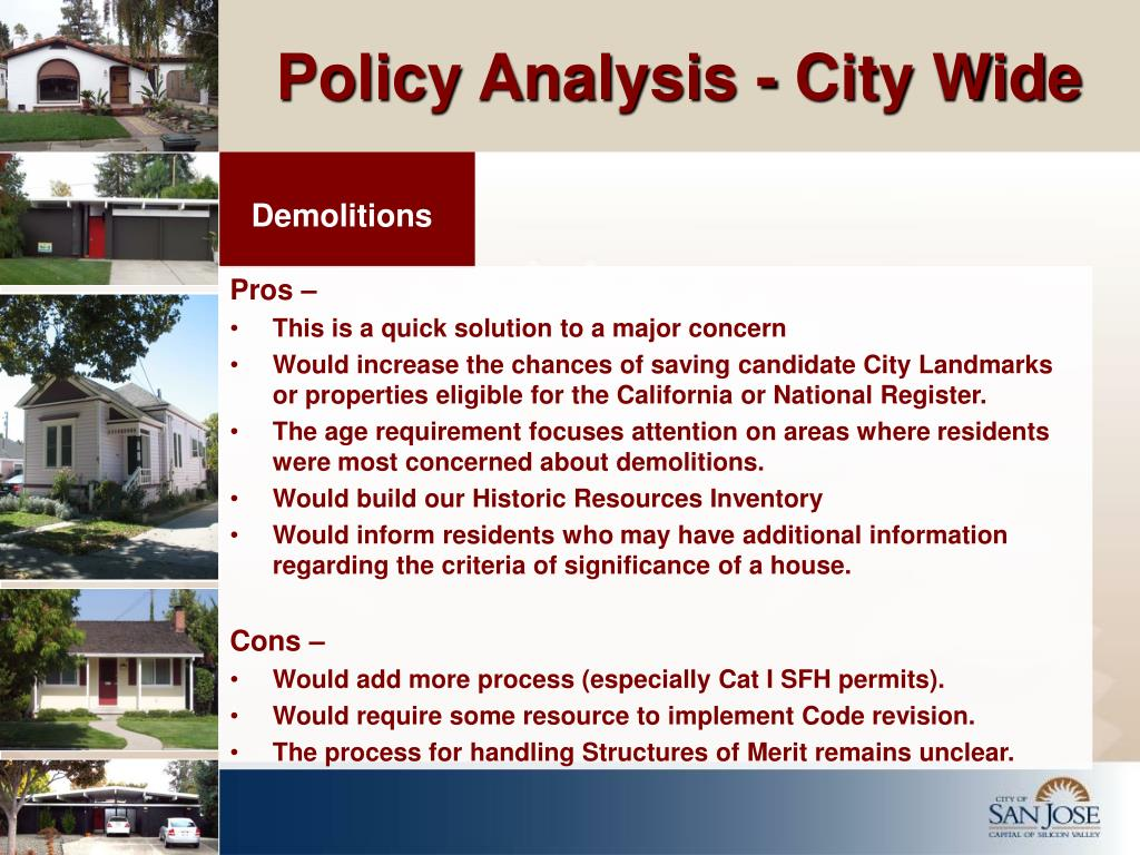 Policy Analysis - City Wide