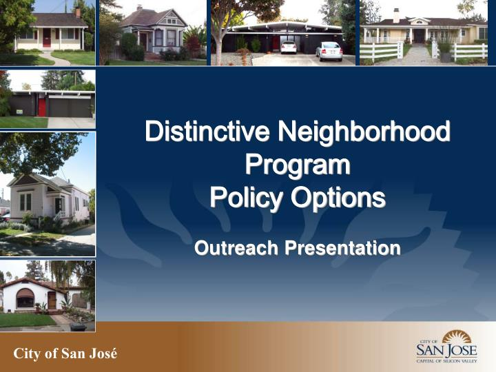 Distinctive Neighborhood