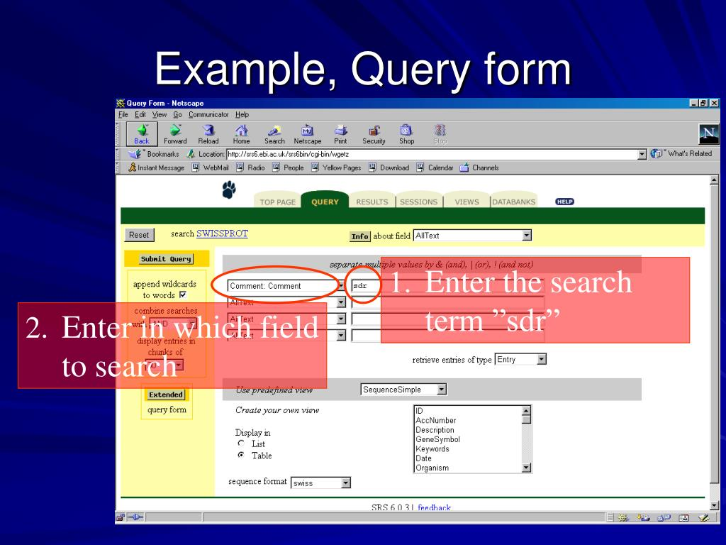 Example, Query form