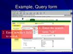 example query form