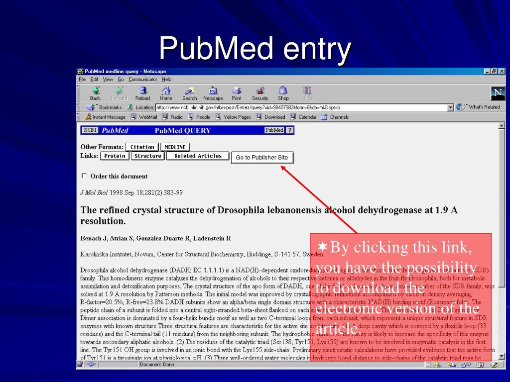 PubMed entry