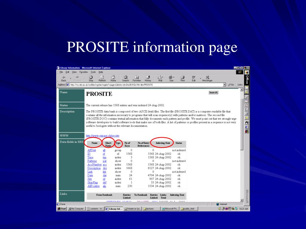 PROSITE information page