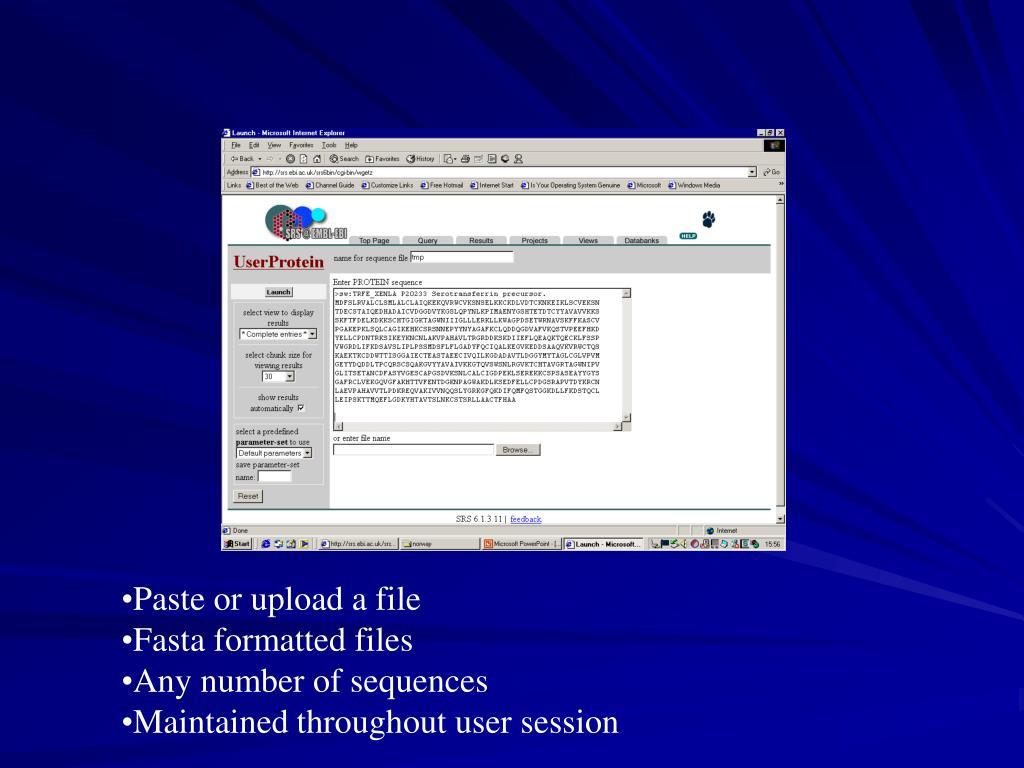Paste or upload a file