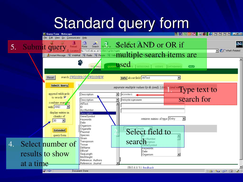 Standard query form