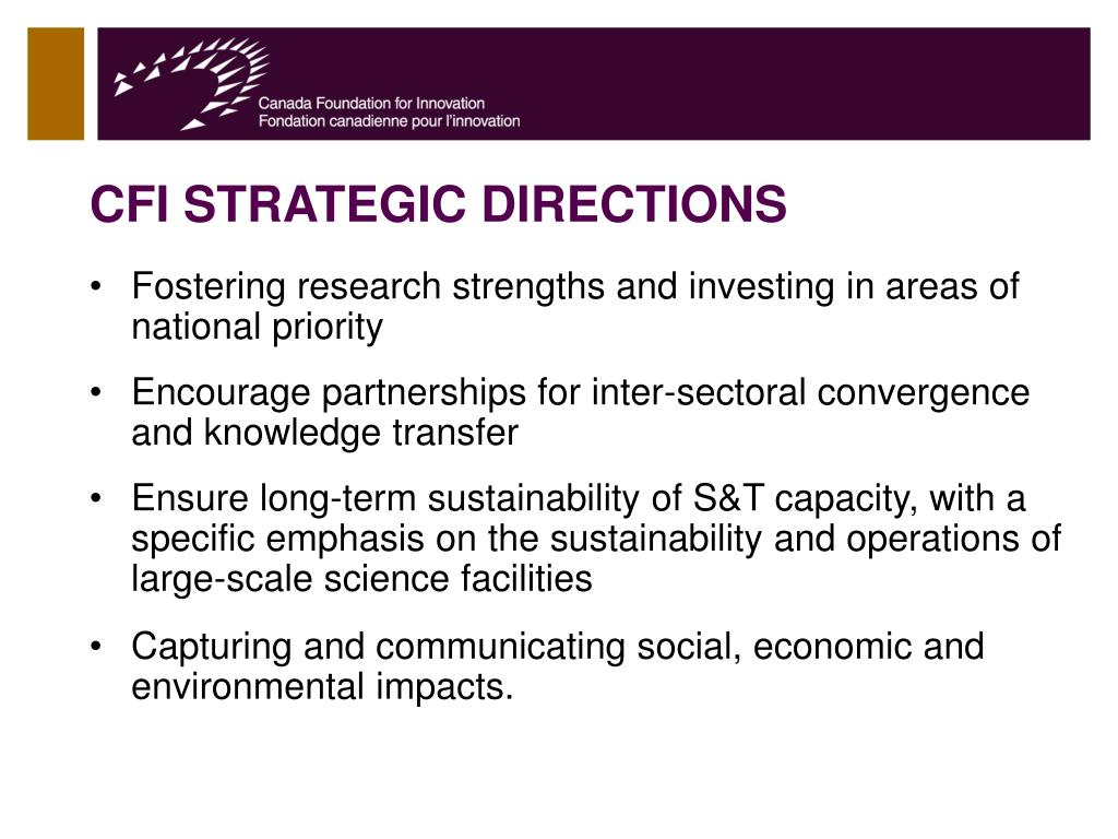 CFI STRATEGIC DIRECTIONS