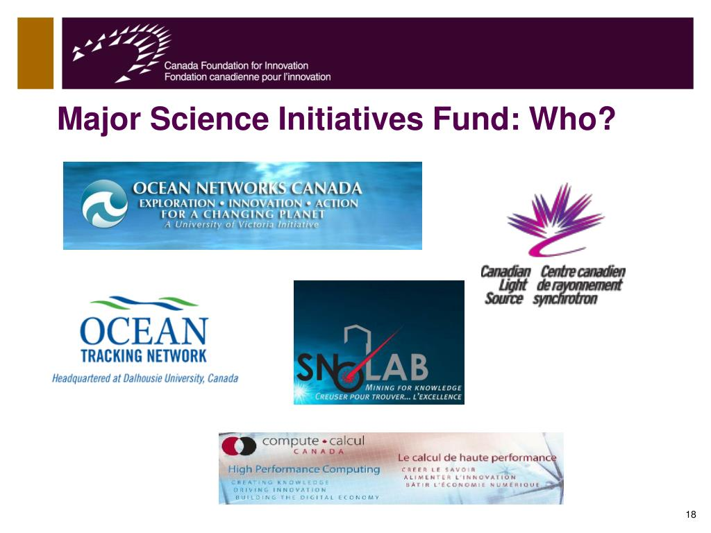 Major Science Initiatives Fund: Who?