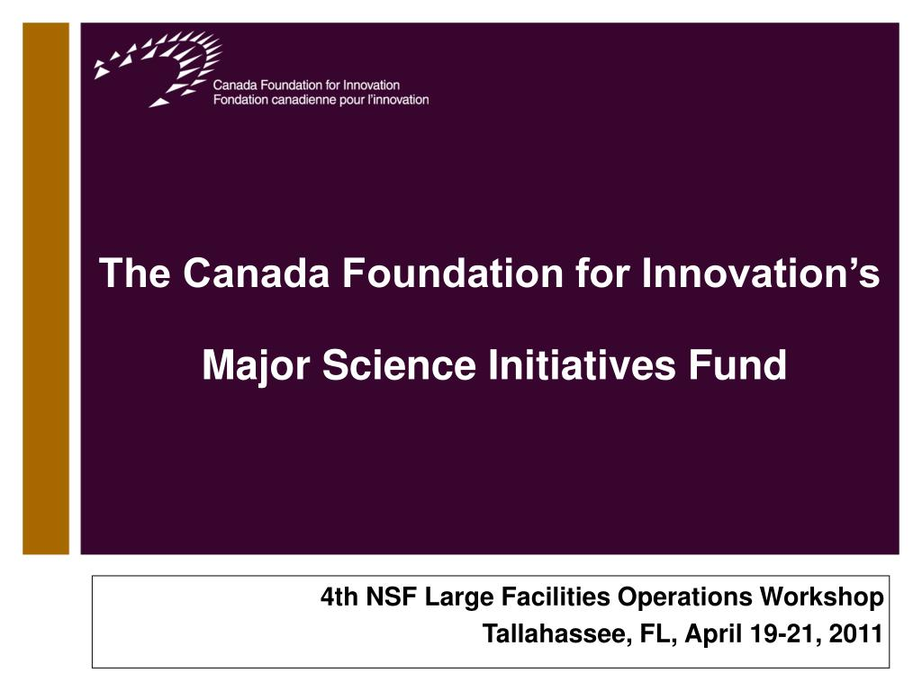 The Canada Foundation for Innovation's