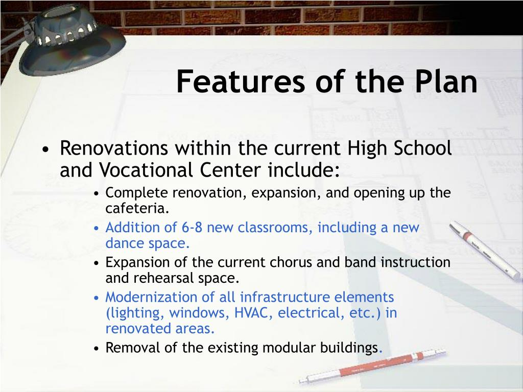 Features of the Plan