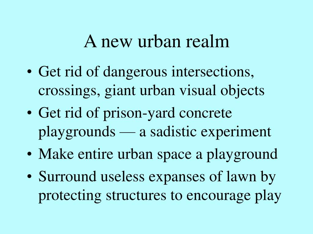 A new urban realm