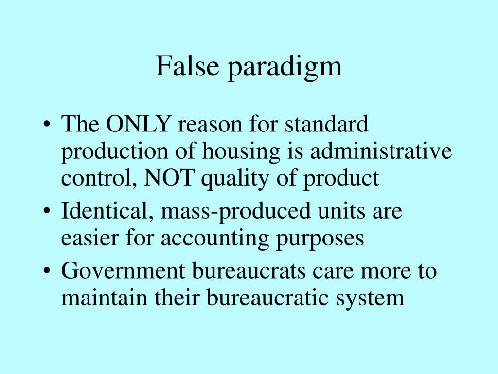 False paradigm