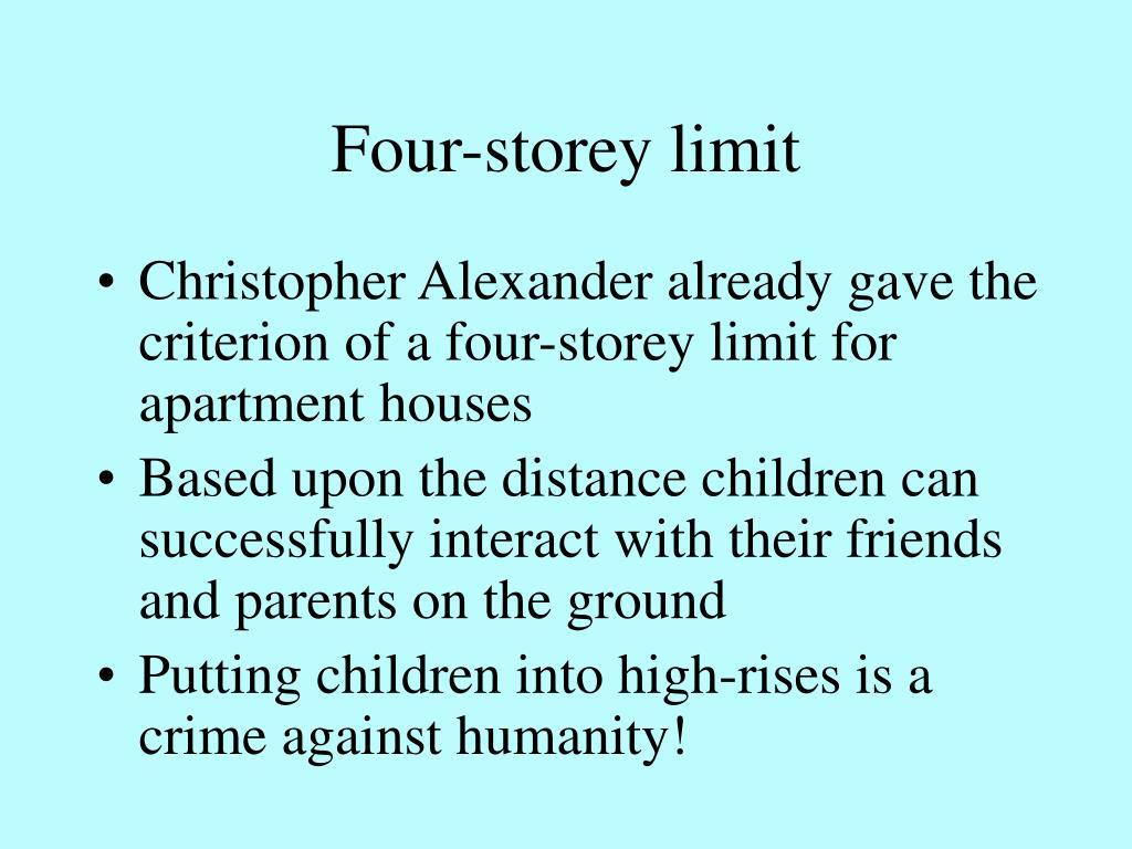Four-storey limit