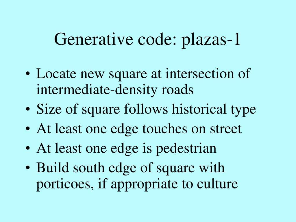 Generative code: plazas-1