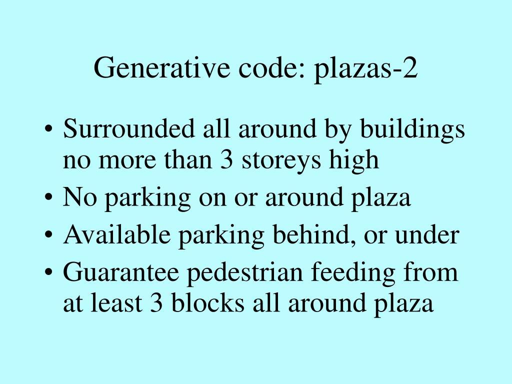 Generative code: plazas-2