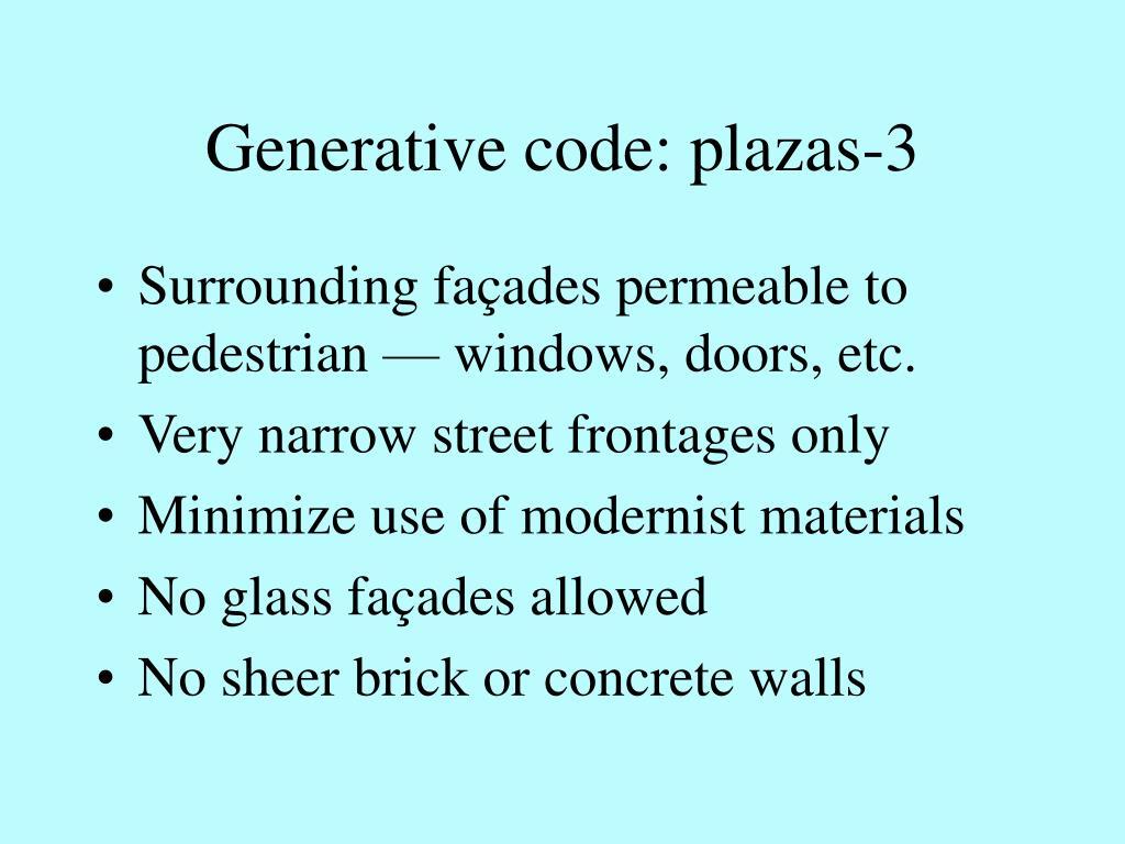 Generative code: plazas-3