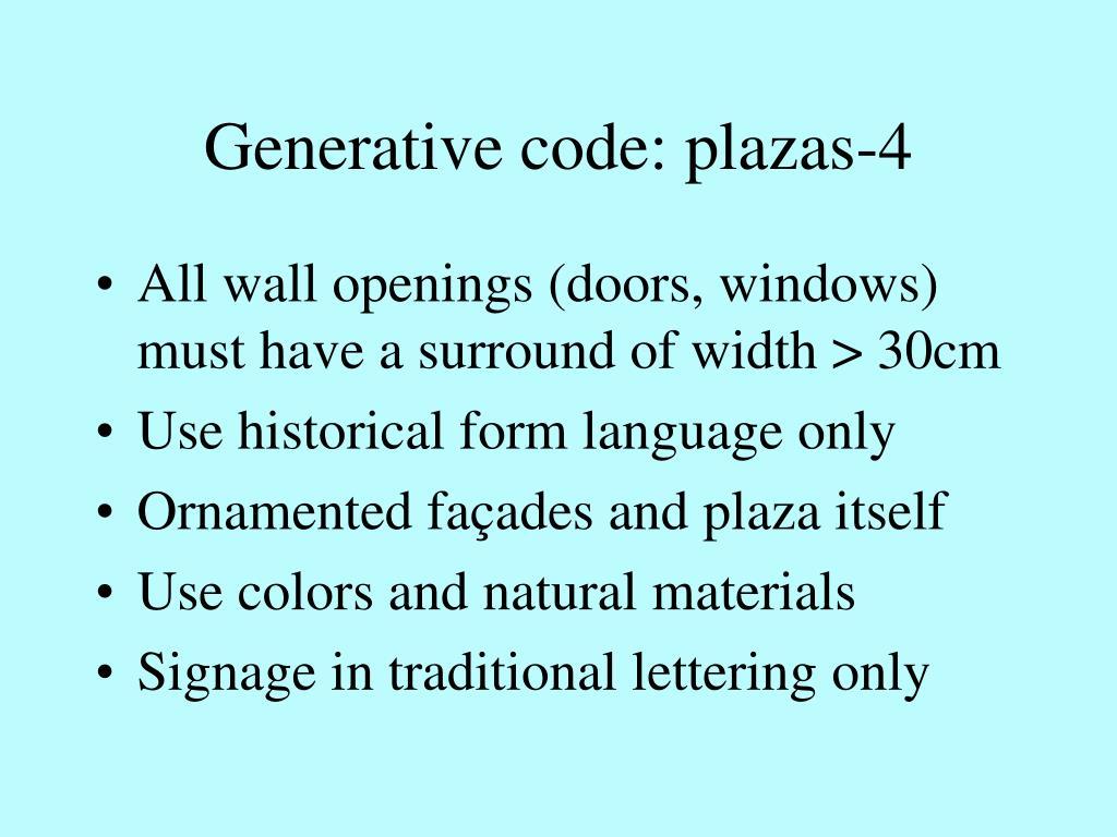 Generative code: plazas-4