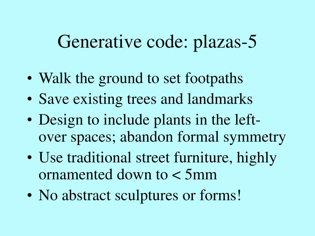 Generative code: plazas-5