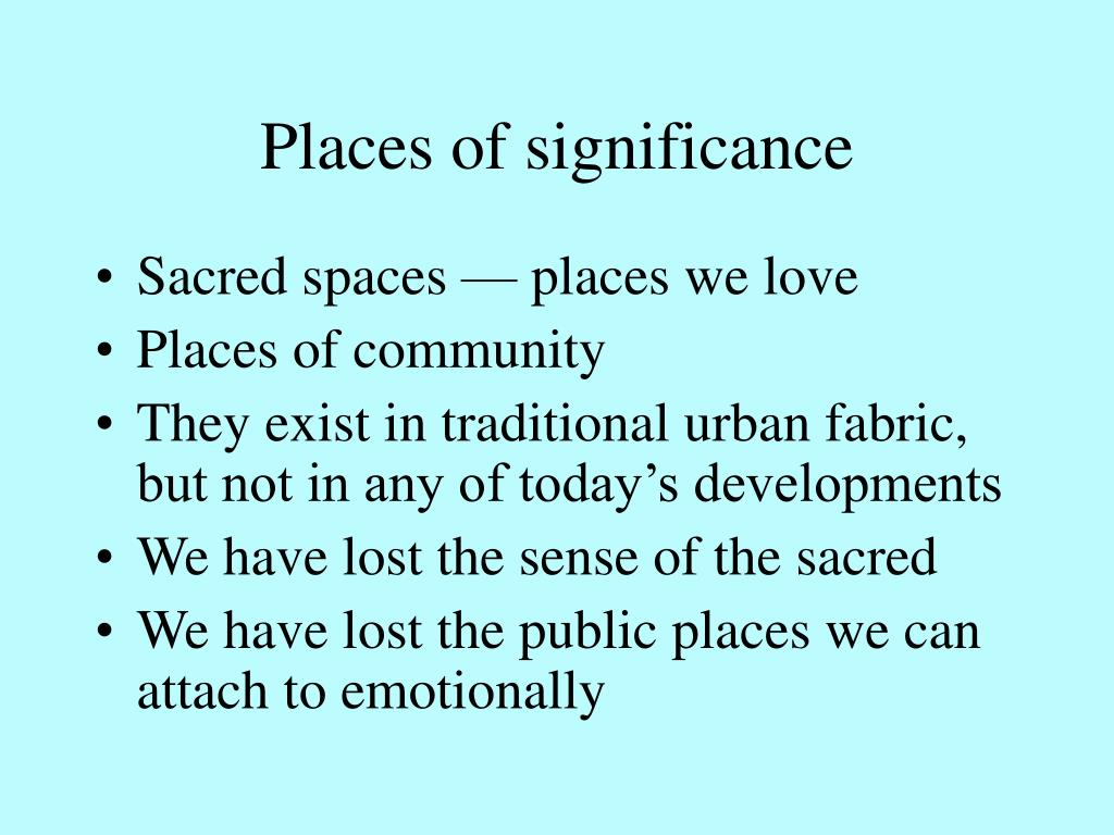 Places of significance