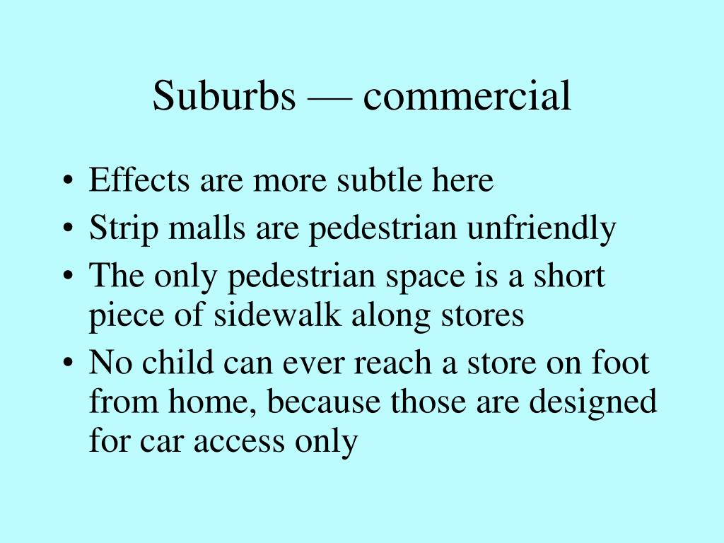 Suburbs — commercial