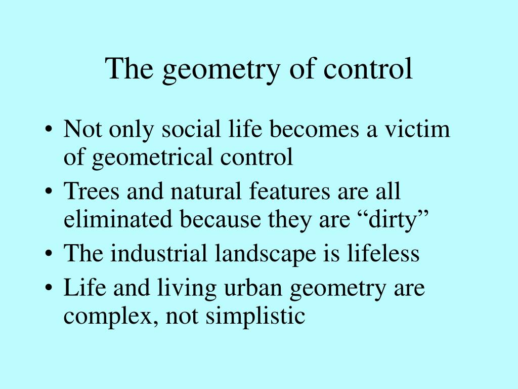 The geometry of control