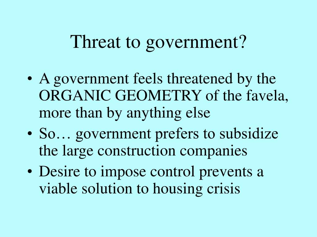 Threat to government?