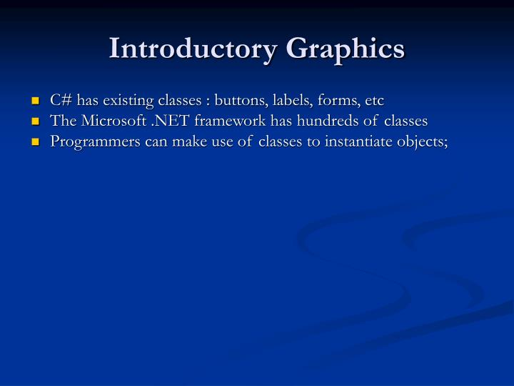 Introductory Graphics