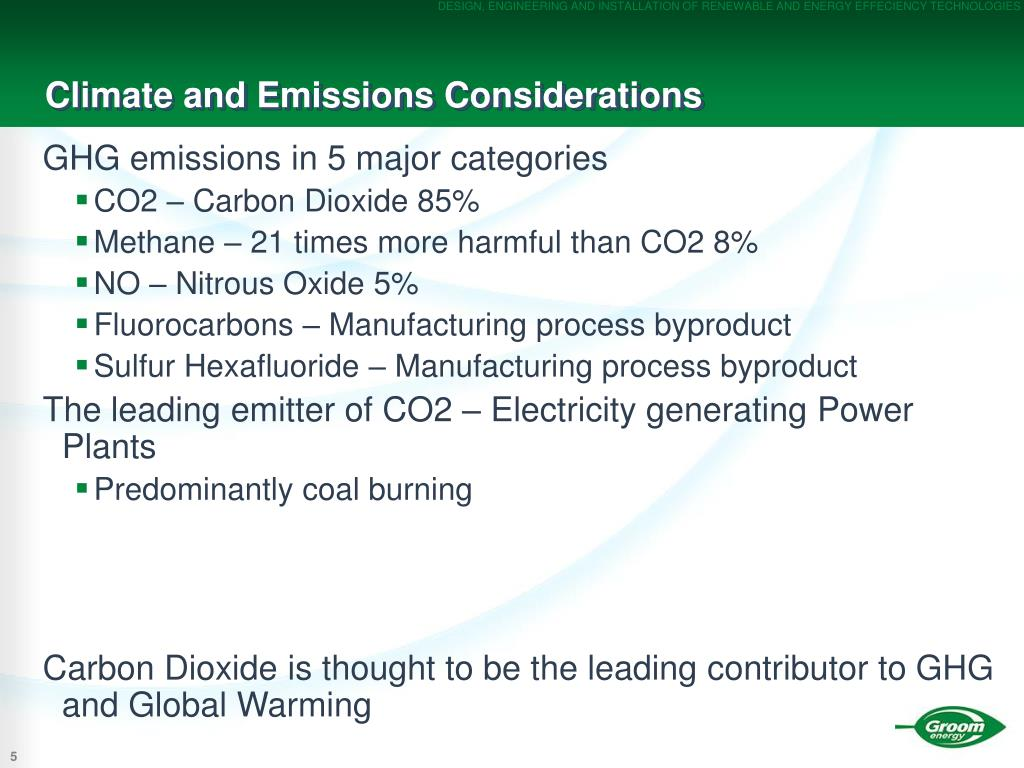 Climate and Emissions Considerations