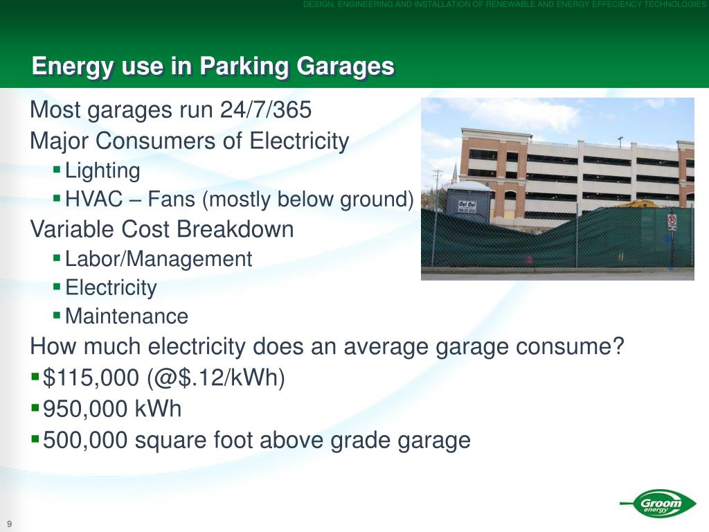 Energy use in Parking Garages
