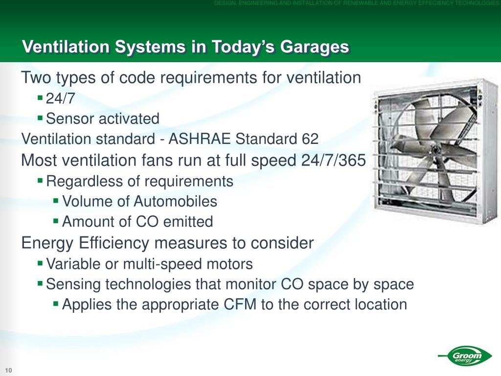 Ventilation Systems in Today's Garages