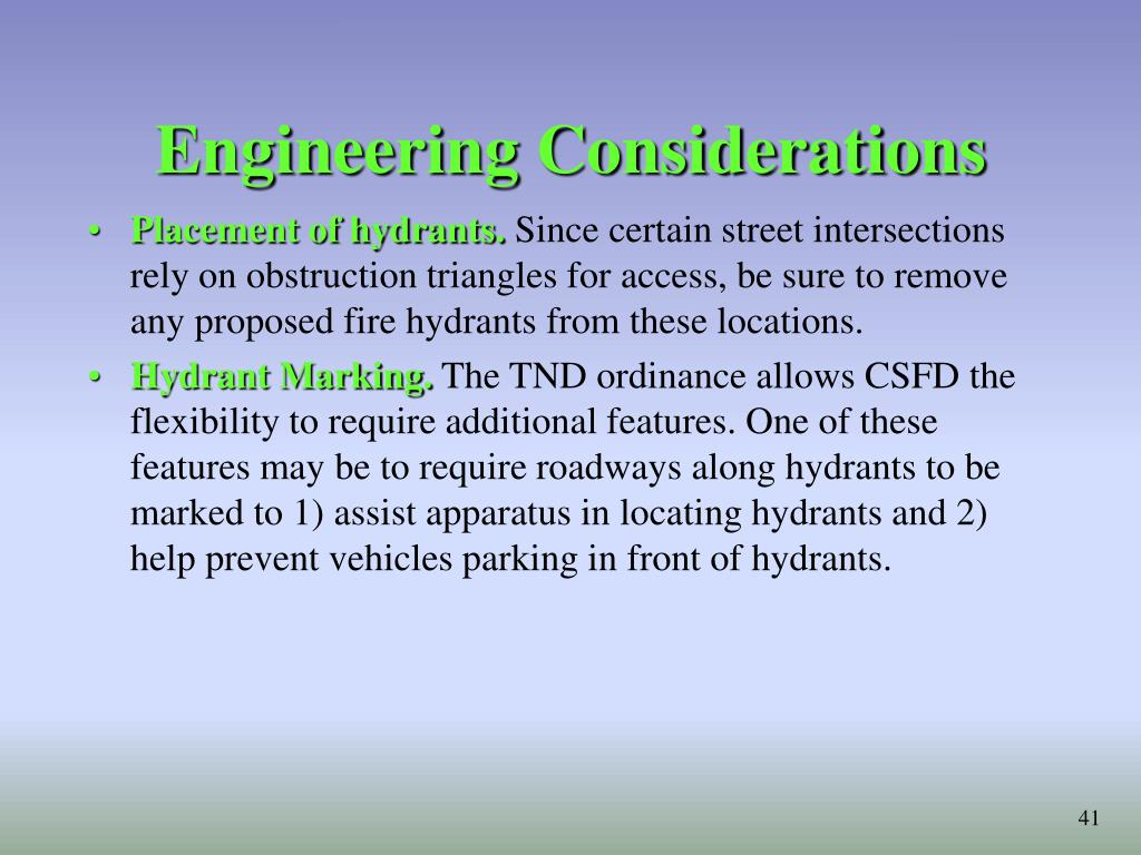 Engineering Considerations