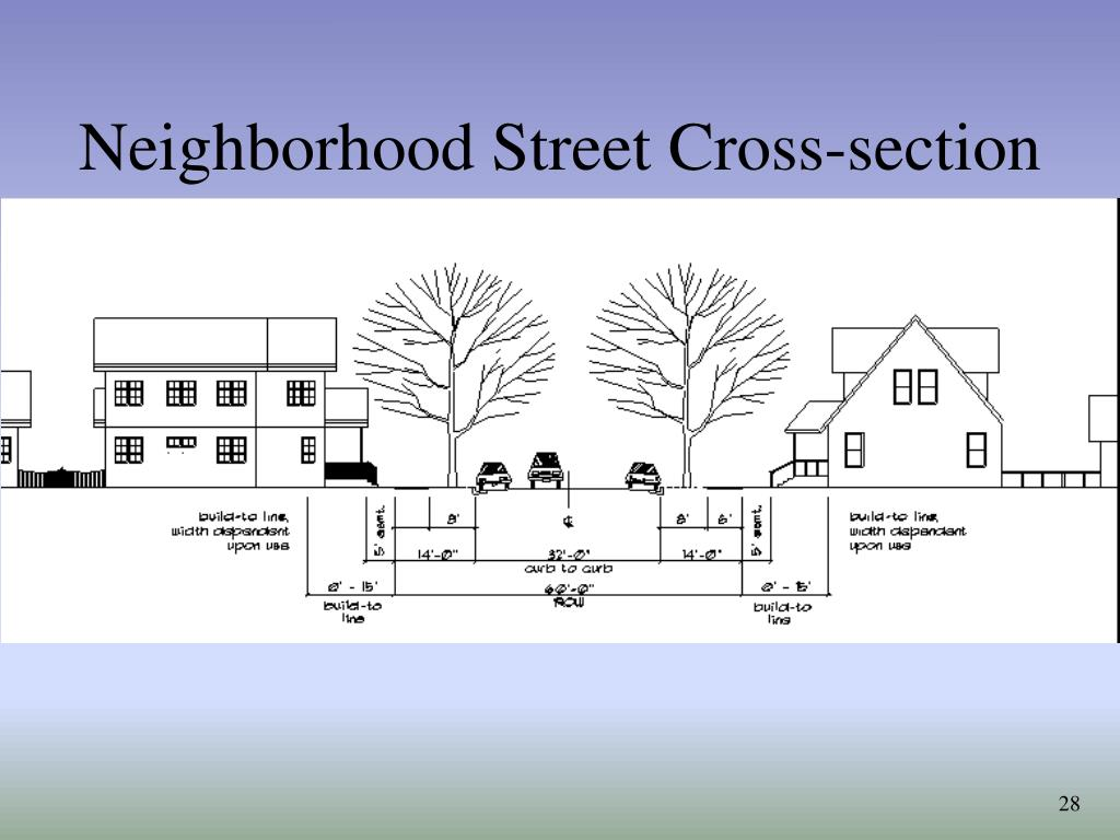 Neighborhood Street Cross-section