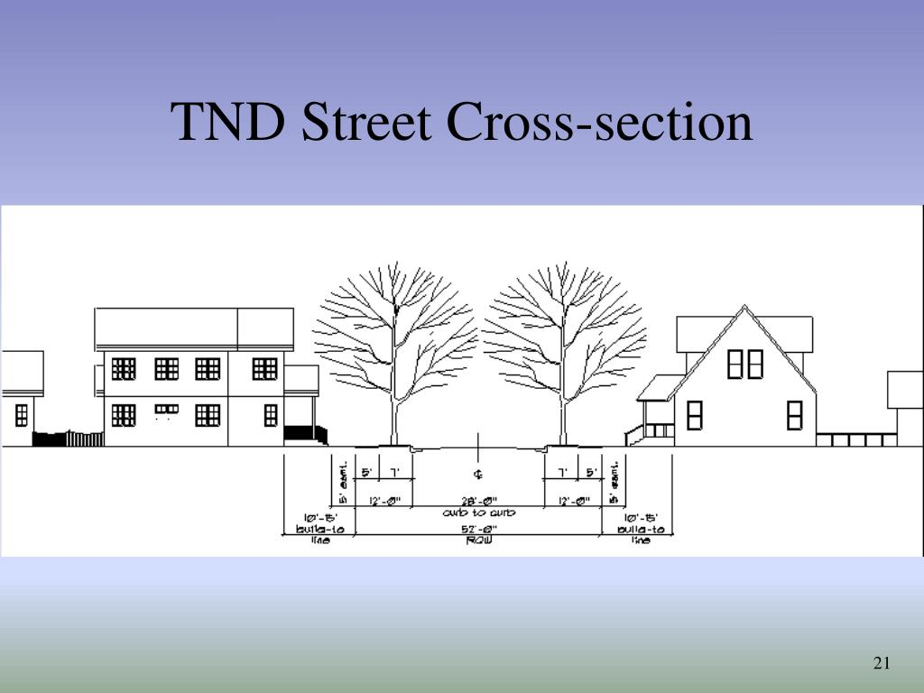 TND Street Cross-section