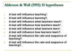 alderson wall 1993 15 hypotheses