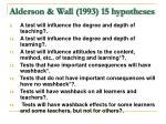 alderson wall 1993 15 hypotheses11