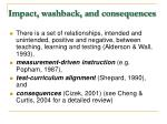 impact washback and consequences