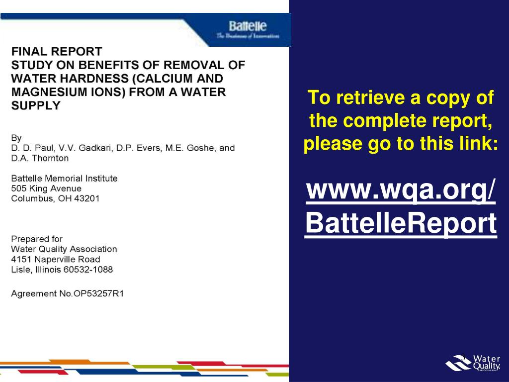 To retrieve a copy of the complete report, please go to this link:
