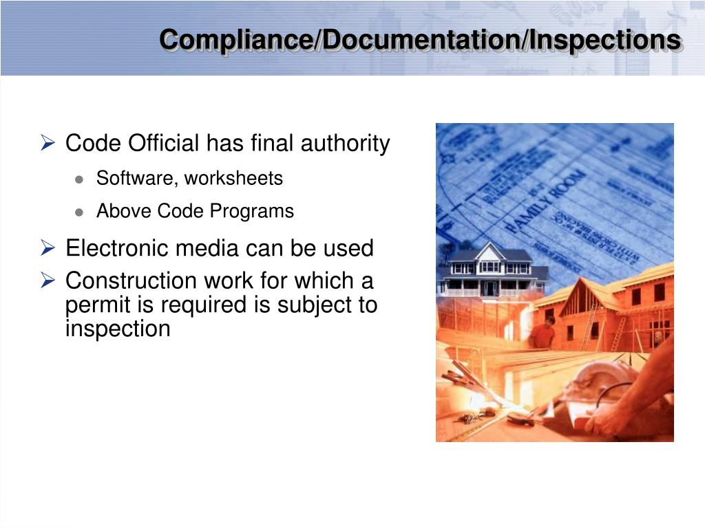 Compliance/Documentation/Inspections