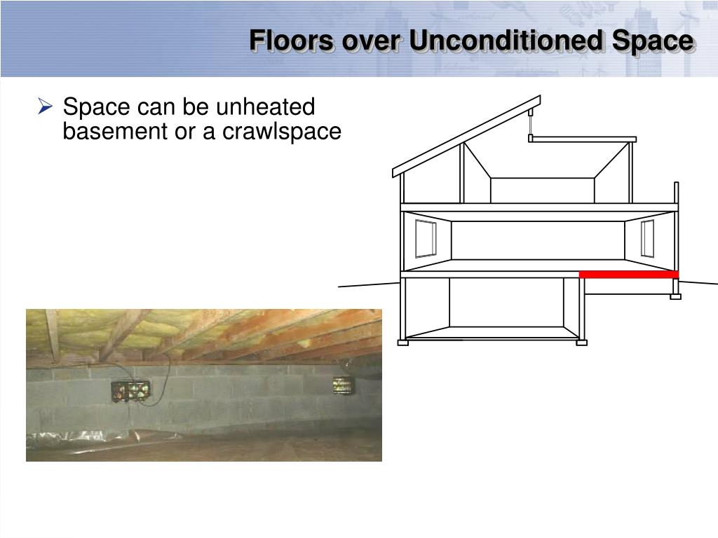 Floors over Unconditioned Space