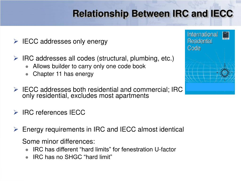 Relationship Between IRC and IECC