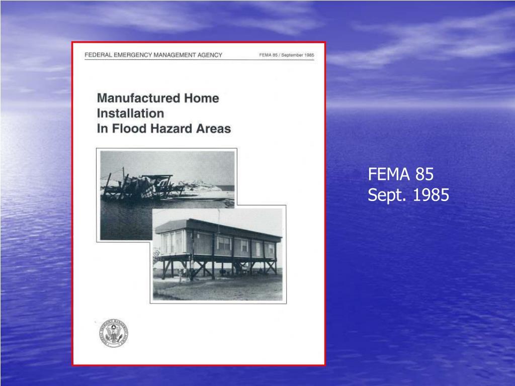 FEMA 85