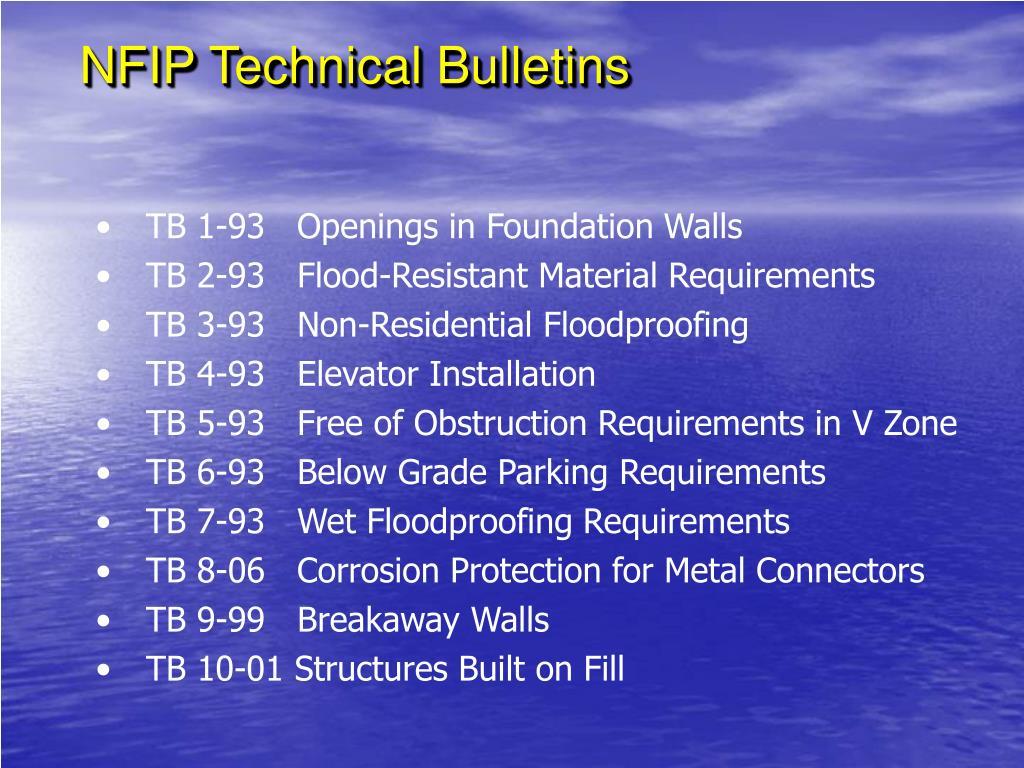 NFIP Technical Bulletins