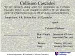 collision cascades
