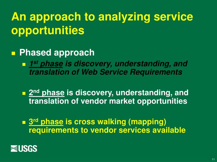 An approach to analyzing service opportunities