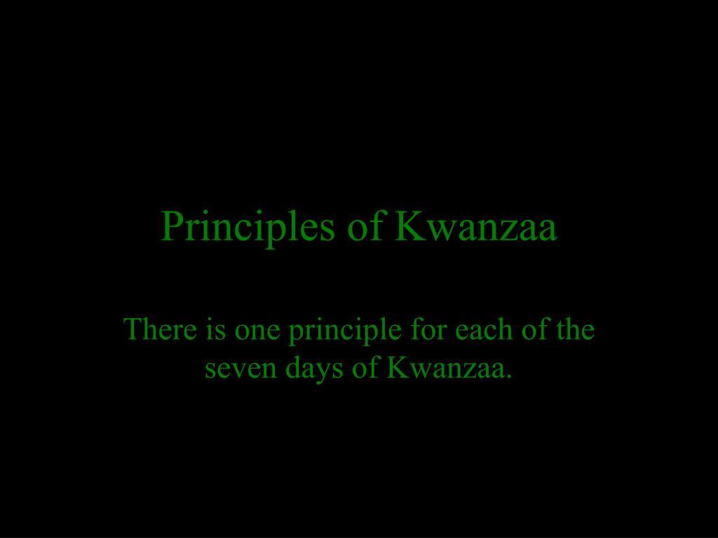 Principles of Kwanzaa