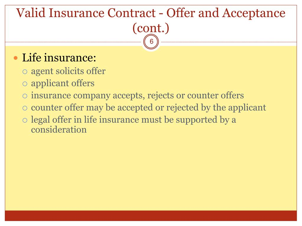 contract acceptance and offer