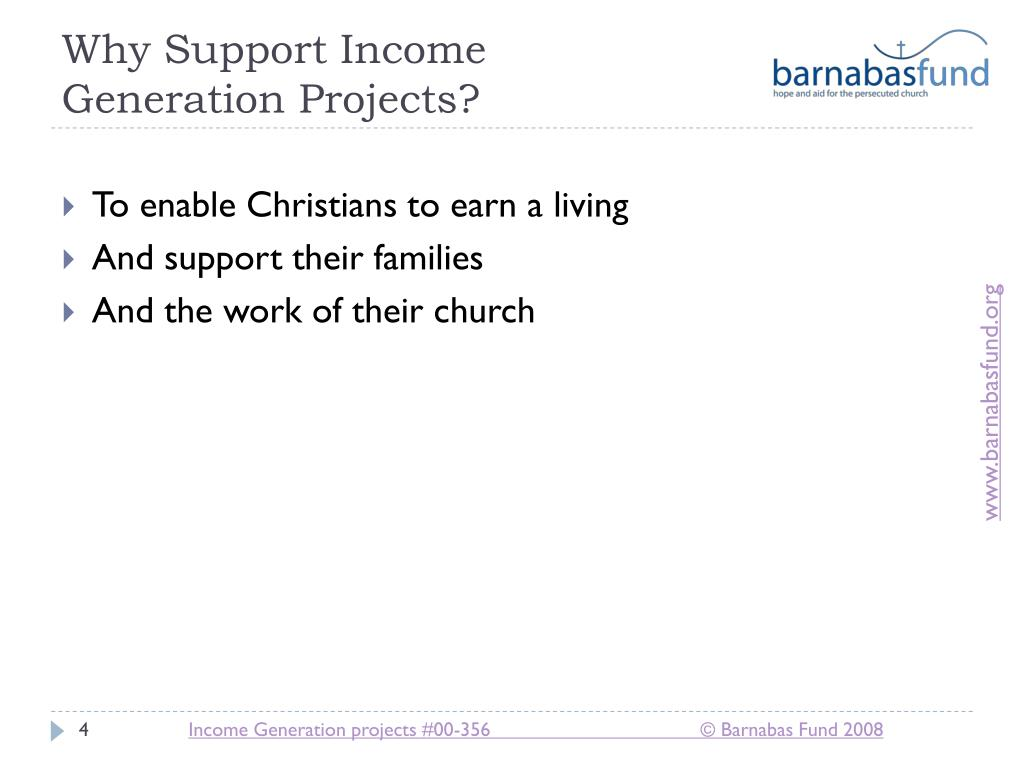 Why Support Income