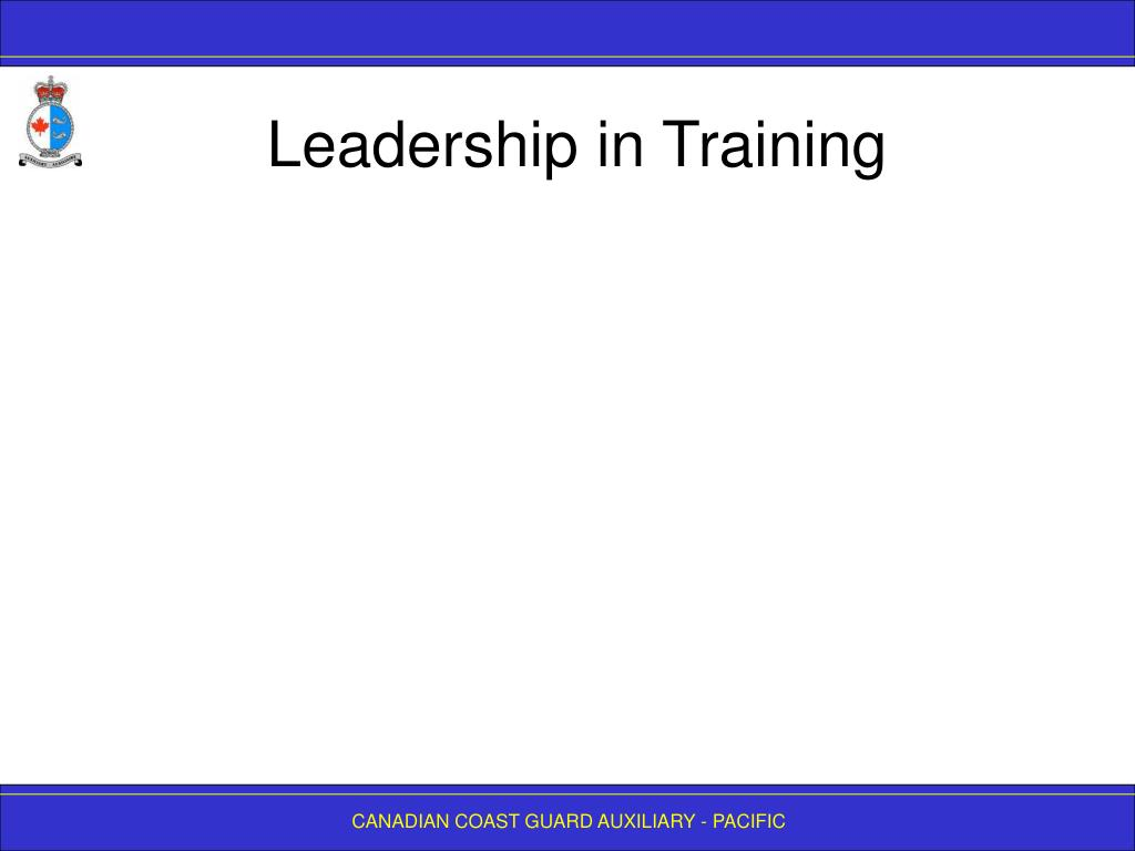 Leadership in Training