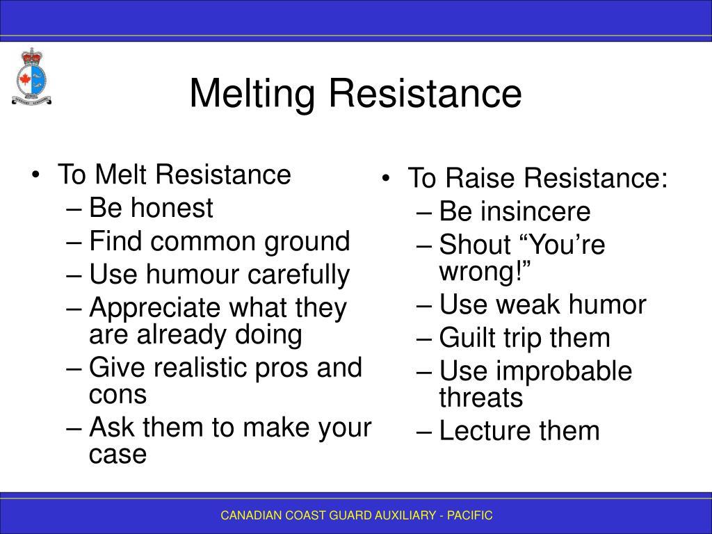 To Melt Resistance